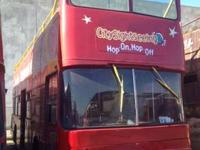 1980 Bristrol VRT Double Decker Bus, open top. It has a