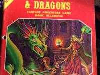 1980 DUNGEONS & DRAGONS TSR DUNGEON BASIC RULES D&D