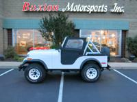 1980 Jeep CJ-5 (VIN: 162934), White with black seats