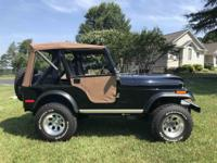 Year : 1980 Make : Jeep Model : CJ5 Exterior Color :