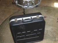 Vintage 1980's Chrome snare drum by Pearl with stand