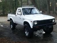 I have a 1980 Toyota pickup 4wd for sale. It features a