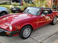 1980 Triumph Spitfire for sale. Excellent condition.