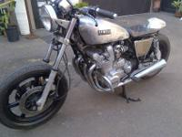 1980 XS1100. Grinded metal appearance. Clear layered so