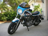 This Cafe Racer was born from a 1980 Yamaha XS650.