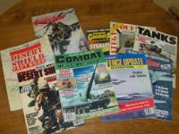 Assorted military magazines from the 1980s, $3.00 each.