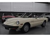 This 1981 Alfa Romeo Spider 2dr Veloce features a 2.0L
