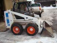 This is a 1981 Bobcat skidsteer/loader with aux.
