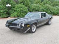 This Raven Black 1979 Chevy Camaro Z28 with T Tops is a