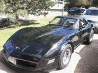 1981 Chevrolet Corvette: - 350 motor - 4 barrel -