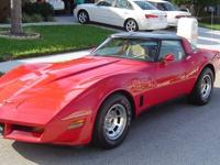 1981 Corvette T-Tops ..21,954 Original Miles ..L81 V8