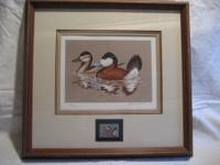 1981 Federal Duck Stamp Print, Ruddy Ducks by John