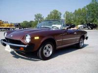 First and single owner 1981 Fiat 124 Spider 2000 in