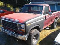 1981 Ford f150 short box with canopy. fun