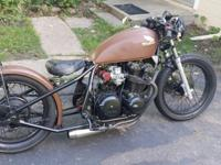 Custom one of a kind Honda CB 750 vintage bomber. This