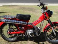 1981 Honda CT110 Trail Bike Red Very nice condition