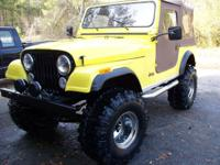 1981 Jeep CJ7 Rebuilt 304 CI V-8 with less than 1K