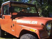 1981 Jeep CJ8 Scrambler with the black top, ordered