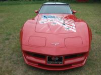 Beautiful Corvette Post Restoration is Torch Red with
