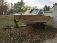 1981 Citation Marquis 17' Bowrider Fishing Boat with