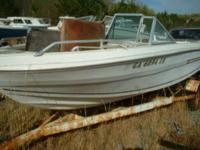 $350 for the boat hull only no engine or engine parts.