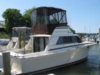 This 1981 Silverton 34 has been repowered with Twin