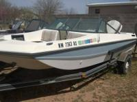 1982 16' Avanti Fishing Boat with 90HP Johnson motor