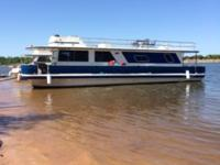 1982 Executive House Boat 50 foot. Motor replaced 2013
