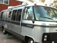 This is an Airstream 280 Motorhome with a Chevy 454 gas