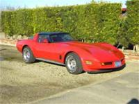 1982 Corvette red on red. Fully loaded, one owner, new