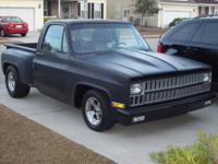 "1982 Chevy C10 stepside pickup. 454 BBC, 9""inch rear,"