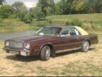 Year: 1982 Make: Chrysler Model: Cordoba Mileage: