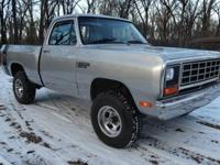 Selling my 82 dodge ram. It is a very nice truck. If