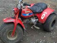 i have a 1982 honda atc110 i want $500 obo.it has a new