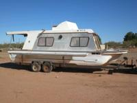 1982 29 ft. Yukon Delta Houseboat. Not a pontoon, it's
