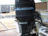 1982 Mercury 90hp outboard pontoon motor. Complete with