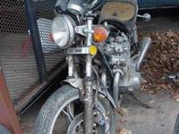 This is a 1982 Suzuki GX750T that has been garaged for
