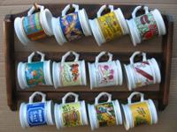 1982 The Corner Stone Porcelain Mug Collection Complete