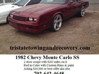 Selling a 1982 Chevy Monte Carlo SS 2 door coupe with
