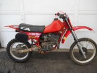 For Sale: 1972 Honda CR80R motorcycle. This dirtbike