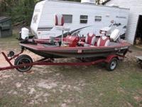 1983 Challenger 16' Sport Fisher Bass Boat w/trailer.
