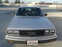 1983 Audi 5000S. Extremely uncommon 5-speed handbook