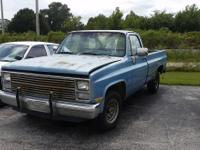 1983 Blue Chevy Silverado  $2899 Automatic 97,315