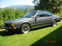 1983 BMW 633 csi Import Classic The car was 1st sold in