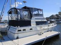 1983 36' Carver 3607, aft cabin cruiser. Twin Volvo