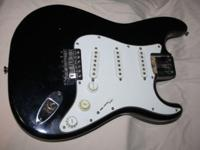 1983 FENDER SQUIRE STRATOCASTER BODY ONLY . 3 BOLT NECK
