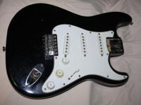1983 FENDER SQUIRE STRATOCASTER BLACK BODY ONLY . 3