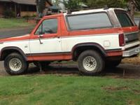 1983 ford bronco 4X4, needs some work (not as much as
