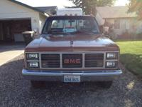 FOR SALE IS MY 1983 1 TON GMC I HAVE PUT ALOT OF WORK