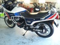 Extremely rare 1983 Honda CX650 Turbo. These CX650